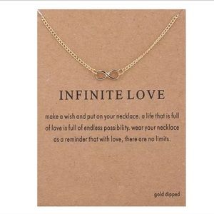 ✨NEW! Infinite Love Necklace With Card Minimalist